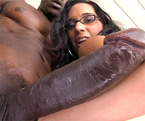 She loves creamy black monster dick